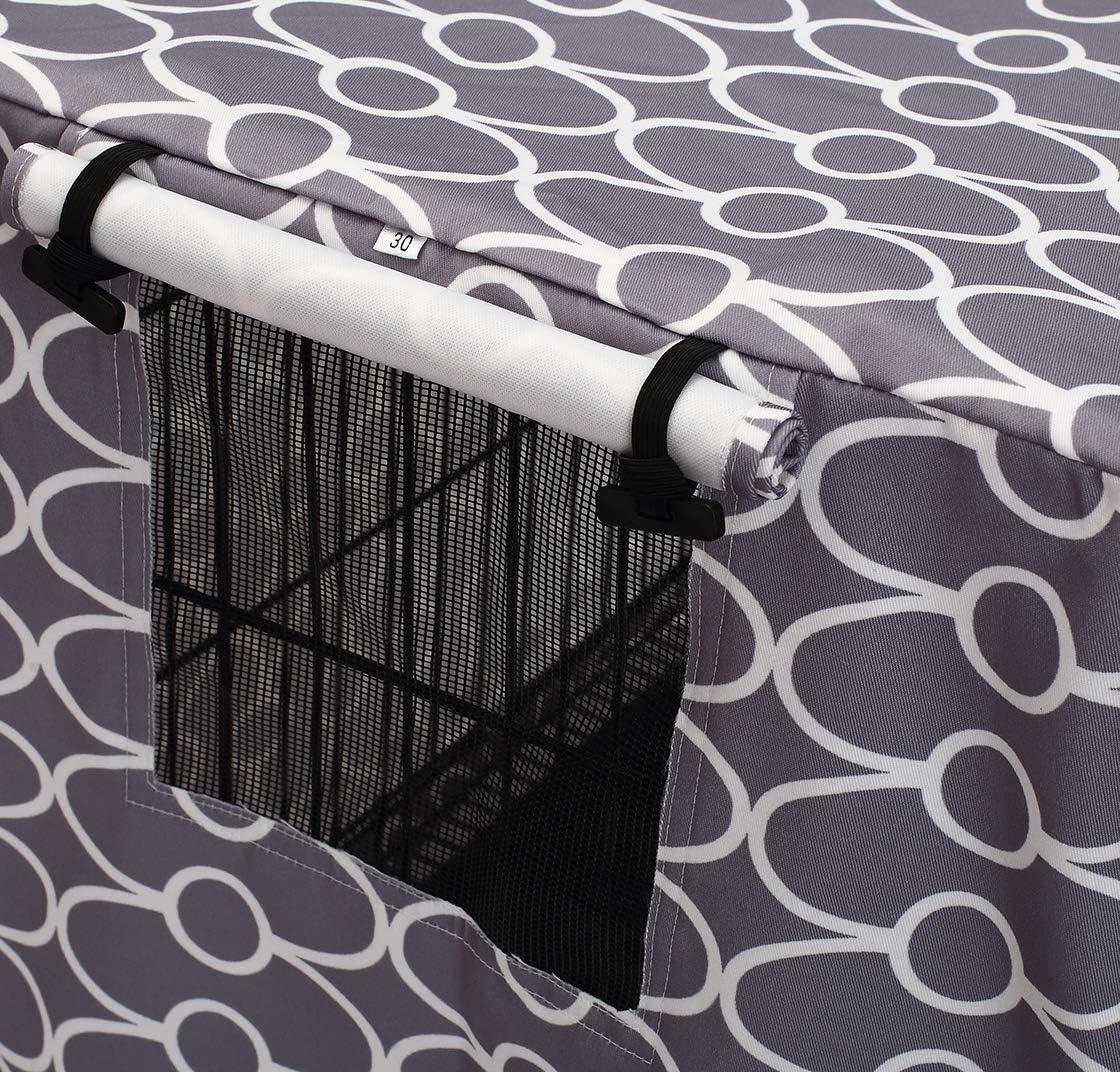 poli/éster, resistente a prueba de viento, protecci/ón interior y exterior, color gris Morezi Funda universal para jaula de alambre
