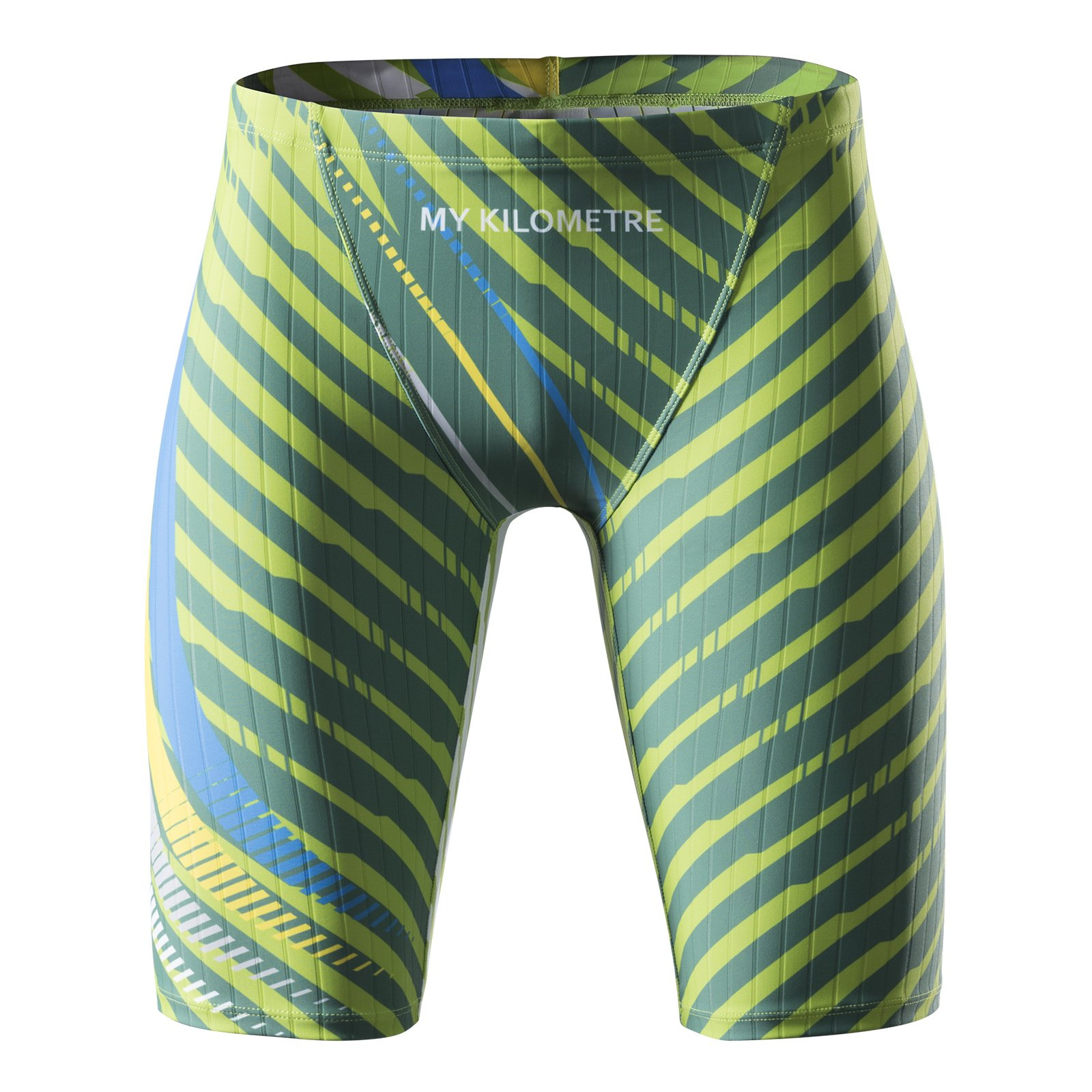 MY KILOMETRE Jammer Swimsuit Mens Solid Swim Jammers Endurance Long Racing Training Swimsuit Swim-01