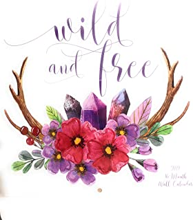Wild and Free 2019 Wall Calendar 16 Month 11