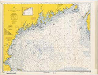 Map - Bay Of Fundy To Cape Cod, 1967 Nautical NOAA Chart - Maine, Massachusetts (ME, MA) - Vintage Wall Art - 24in x 18in