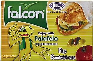 Falcon Falafelo Sandwich Bags - 15 x 17 cm, 100 Bags