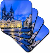 3dRose Czech Republic, Bohemia, Prague, Old Town Square at Dawn. - Soft Coasters, Set of 4 (CST_207953_1)