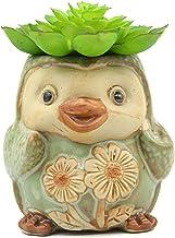 "MONMOB 3.5"" Ceramic Penguin Shaped Plant Pot/Bonsai Pot/Flower Pot/Succulent Planter Multipurpose Pot"