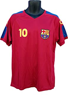 FC Barcelona Messi Number 10 Official Adult Soccer Signature Performance Poly Jersey Rhinox-P004