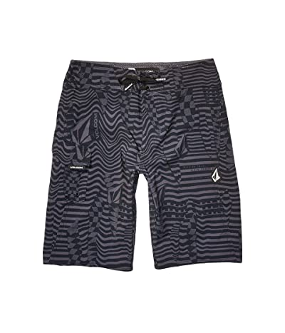 Volcom Kids Logo Shifter Mod Boardshorts (Big Kids) (Asphalt Black) Boy