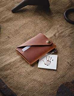 Portafoglio minimalista in pelle/portacarte | Classic Brown portapacchi Crazy Horse in pelle, vintage, portamonete di qual...