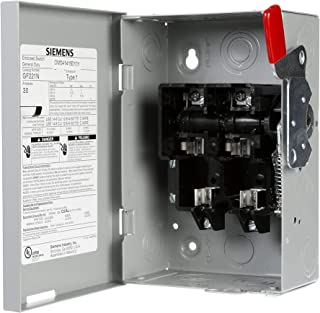 SIEMENS GF221NU Ghn321Nu Fusible General Duty Safety Switch With Neutral, 240 V, 30 A, 240 W, 1 Phase, 2 Pole, 3 W