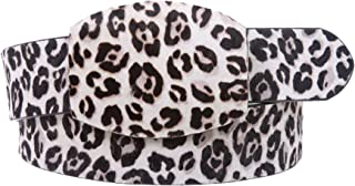 Snap On Leopard Print Animal Fur Fashion Belt Size: M/L - 36 Color White