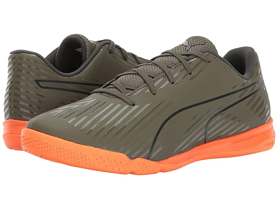 Puma Kids evoSPEED Star S2 (Little Kid/Big Kid) (Olive Night/Puma Black/Shocking Orange) Kids Shoes