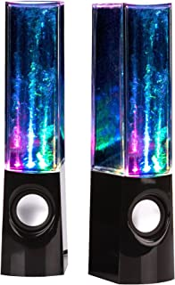 uTronix Plug and Play LED Fountain Multi-Color Illuminated Dancing Water Speaker for iPad, iPod, iPhone, Android Smart Phone, Tablet, MP3 Player Computer PC