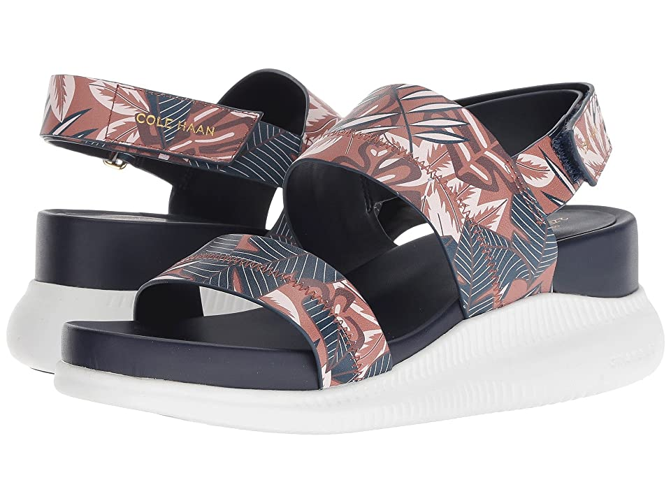 8554f0b1393dc3 Cole Haan 2.Zerogrand Slide Sandal (Tropical Printed Leather Optic White) Women s  Sandals
