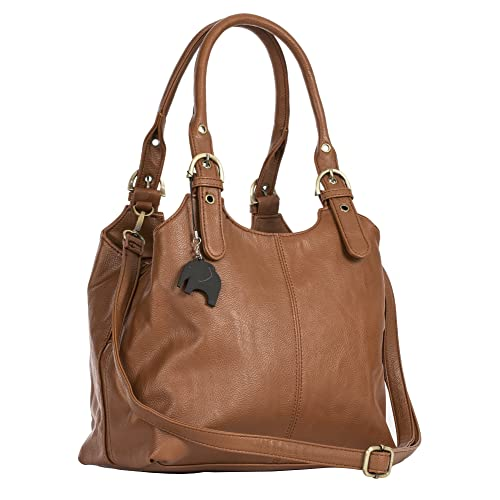 BHSL Womens Multiple Pockets Medium Size Long Strap Shoulder Bag - with a  Branded Protective Storage