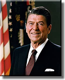 President Ronald Reagan Official Portrait Picture on Stretched Canvas Wall Art Décor, Ready to Hang!