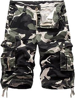 Bermudas Cargo Shorts Hombres Pantalones Cortos Leisure Casual 29-40