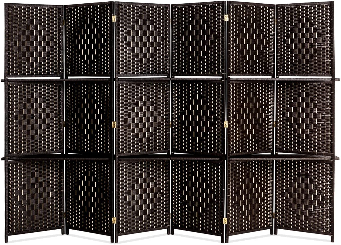 TRYBEST New life Six OFFicial site Folds Rattan Chinese Style with Da Plates Two Screen