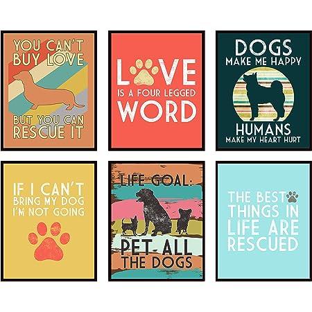 Love Is A Four Legged Word Dog Pet Farmhouse Sign Shelf Sitter Home Decor Print