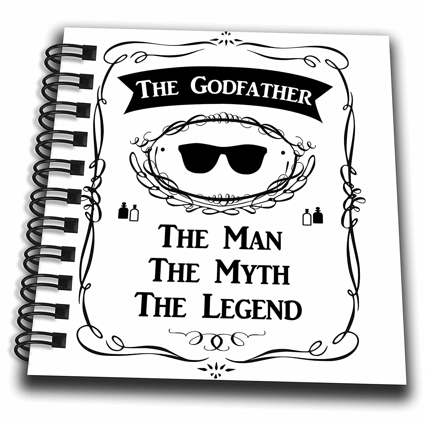 3D Rose The The Godfather The Man The Myth The Legend Funny Cool god Father Gift Mini Notepad