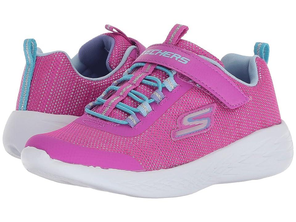SKECHERS KIDS Go Run 600 (Little Kid/Big Kid) (Pink/Multi) Girl