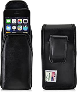 Turtleback Holster Compatible with Apple iPhone SE 5 5s 5c Black Belt Case Leather Pouch with Executive Belt Clip Horizontal Made in USA