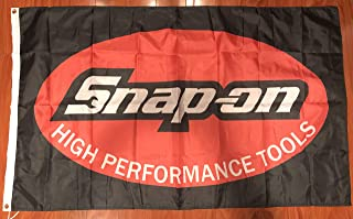 Snap-on Flag Banner 3x5 ft American Tools Products Wall Garage Black