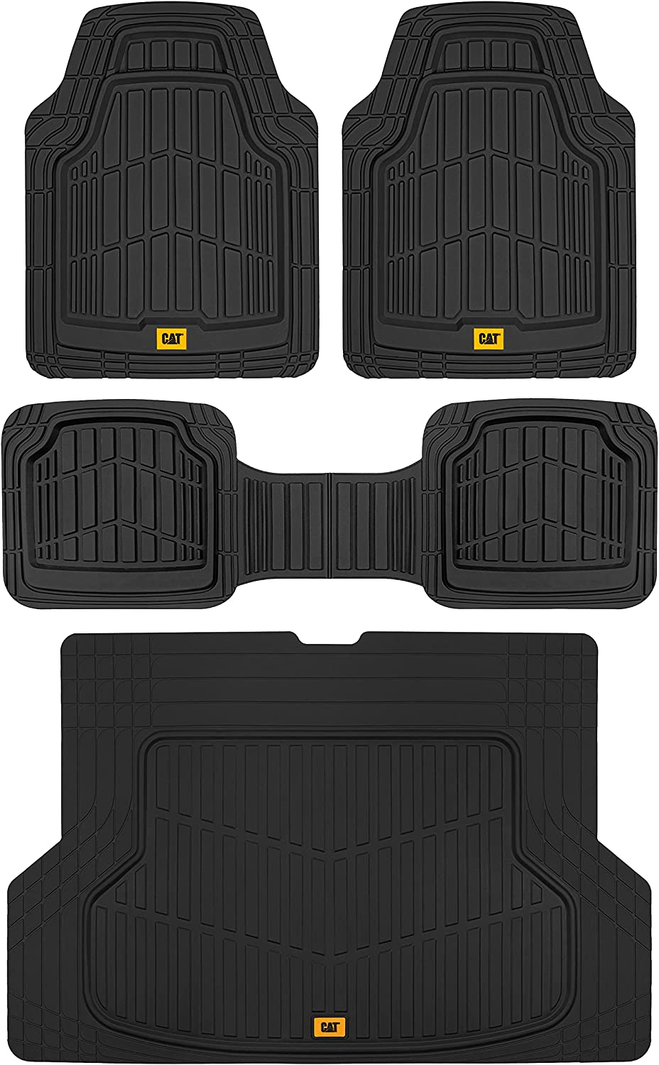 Caterpillar Now free shipping ToughRide Heavy-Duty Rubber Mats Floor Trunk Today's only Cargo