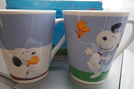 Preisvergleich für PARIS STOCK 2er Set Tasse Snoopy & Friends - Snoopy Charlie Brown Mug Peanuts - Tasse Kaffeetasse 2er Set Snoopy Kaffeebecher Geschenkidee Snoopy & Friends