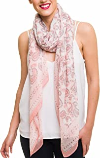 Scarf for Women Lightweight Paisley Fashion for Summer Fall Scarves Shawl Wrap