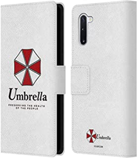 Official Resident Evil Umbrella 2 Logo Leather Book Wallet Case Cover Compatible for Samsung Galaxy Note10 / 5G