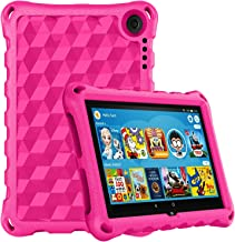 Fire HD 8 Case 2020,Fire HD 8 Plus Tablet Case,DiHines Anti Slip Shockproof Light Weight Protective Kids Case Cover for All-New Amazon Kindle Fire HD 8 Tablet(10th Generation, 2020 Release),Pink