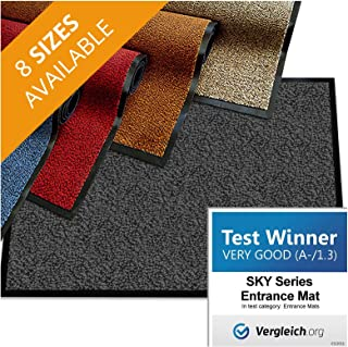 "casa pura Premium Entry Mat | Entrance Mat Comparison Test Score: Very Good (A-/1.3) | Ideal as Front Door Mat or Entry Rug | Charcoal Gray - 48"" x 72"""