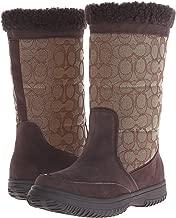 Coach Womens Sherman Signature Cold Weather Boot,Chestnut/Khaki,7 M US