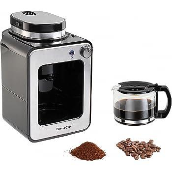 Domoclip DOD135 - Cafetera (Independiente, Cafetera combinada, 0,6 L, Molinillo integrado, 600 W, Negro, Plata): Amazon.es: Hogar