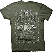 40th Birthday Gift Shirt - Vintage Aged to Perfection 1980 - Distressed