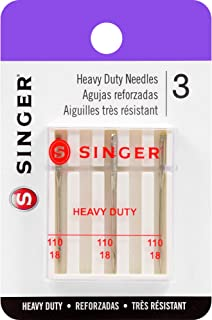 SINGER 4758 Universal Heavy Duty Sewing Machine Needles, Size 110/18, 3-Count