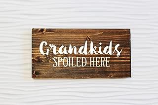 Delia32Agnes Grandkids Spoiled Here Sign Grandchildren Spoiled Here Grandparents Sign Wooden Sign Gift Grandparents