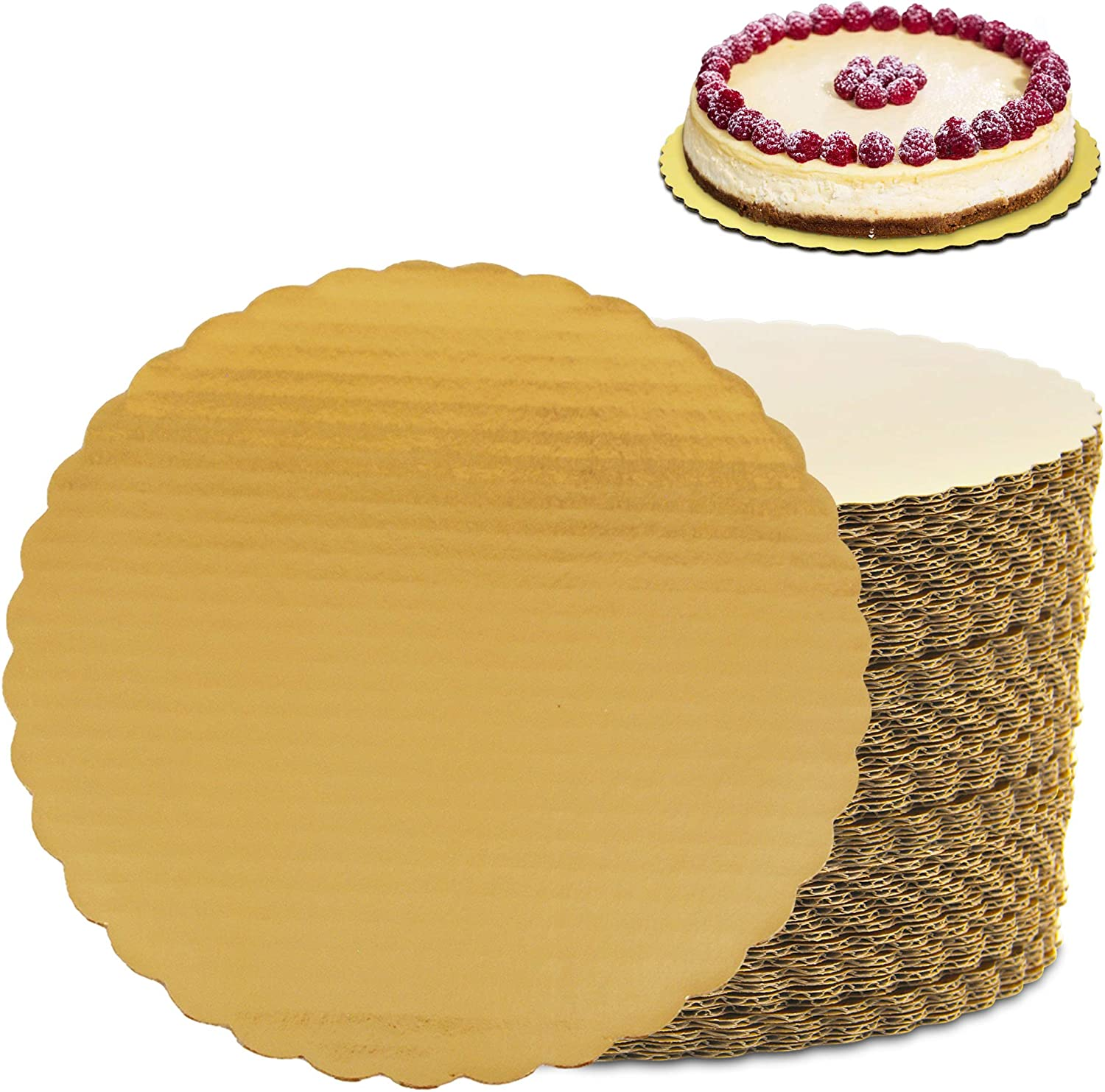 100 Pack 12 Inches Round Sale price Cake Boards Chicago Mall Disposable Ca - Cardboard