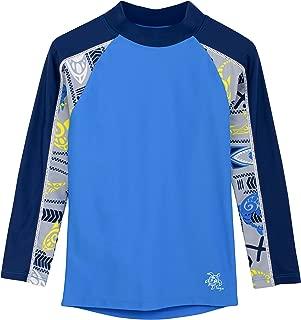Tuga Boys Long Sleeve Rash Guard 1-14 Years, UPF 50+ Sun Protection Swim Shirt