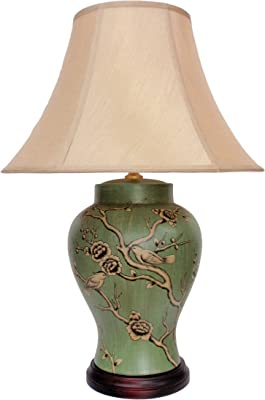 DOWNTON INTERIORS UK's LARGEST RANGE OF PORCELAIN LAMPS - Large Oriental Ceramic Table Lamp (M9448) – Chinese Mandarin Style Living Rooms & Bedrooms