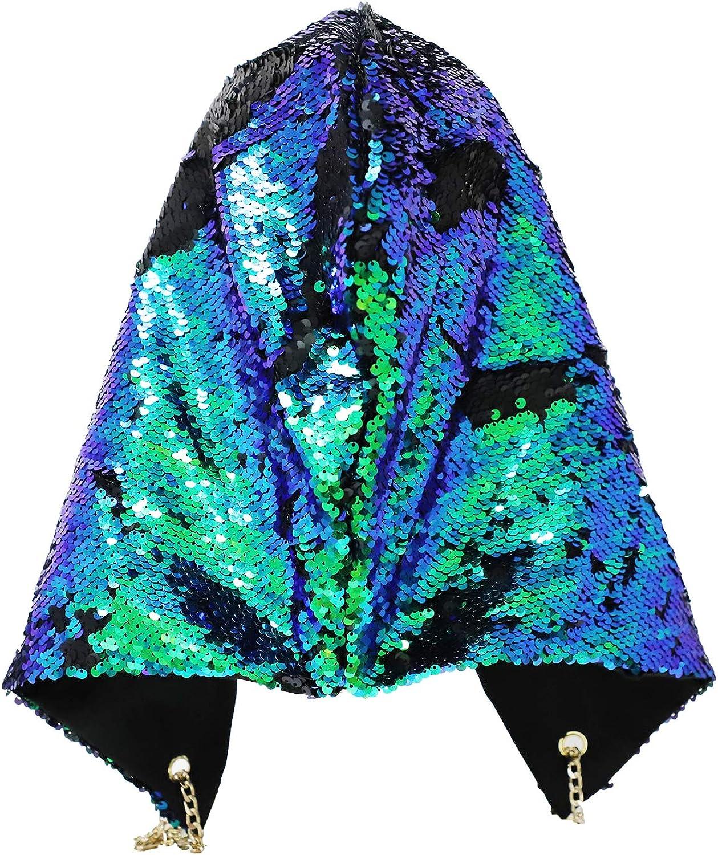 Choice Mermaid Sequin Rave Hat Halloween Reversible Hood Recommendation Dressup Cospla