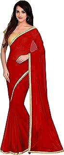 Viva N Diva Saree for Women`s Red Color Georgette Saree
