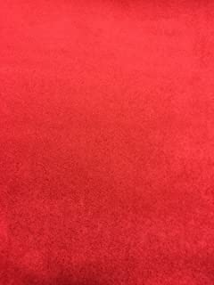 Red Foam Backed Suede Headliner Fabric 60