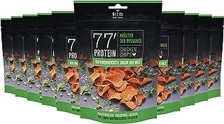 Grillido Protein Chips | 77% Eiweiß Nur 9% Fett | Der Eiweißreichste Snack der Welt Kräuter der Provence, 10 x 25 g