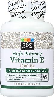 365 by Whole Foods Market, Vitamin E High Potency 1000 Iu, 60 Softgels