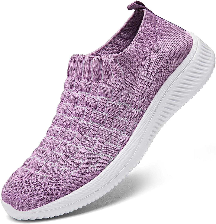 DKRUCAK womens Casual Slip on Walking Shoes