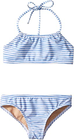 Watercolor Blue Bandeau Halter Bikini (Infant/Toddler/Little Kids/Big Kids)