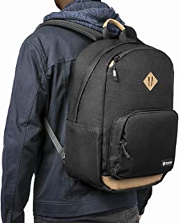 tomtoc 22L Classic College School Backpack, Premium Endurable CORDURA Material Daypack, Water-resistant, with 15.6 Inch Laptop Compartment and Anti-theft Pocket
