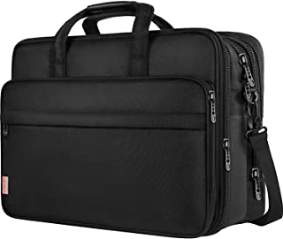 17 Inch Laptop Bag, Large Business Briefcase for Men Women, Travel Laptop Case Shoulder Bag, Waterproof Expandable Computer Messenger Bag, Durable Carrying Case Fits 17 in Laptop and Notebook