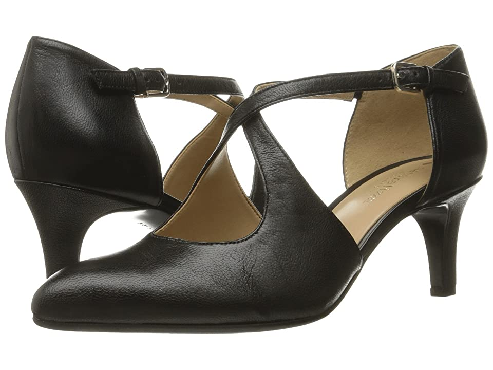 1930s Style Shoes – Art Deco Shoes Naturalizer Okira Black Leather Womens 1-2 inch heel Shoes $98.95 AT vintagedancer.com