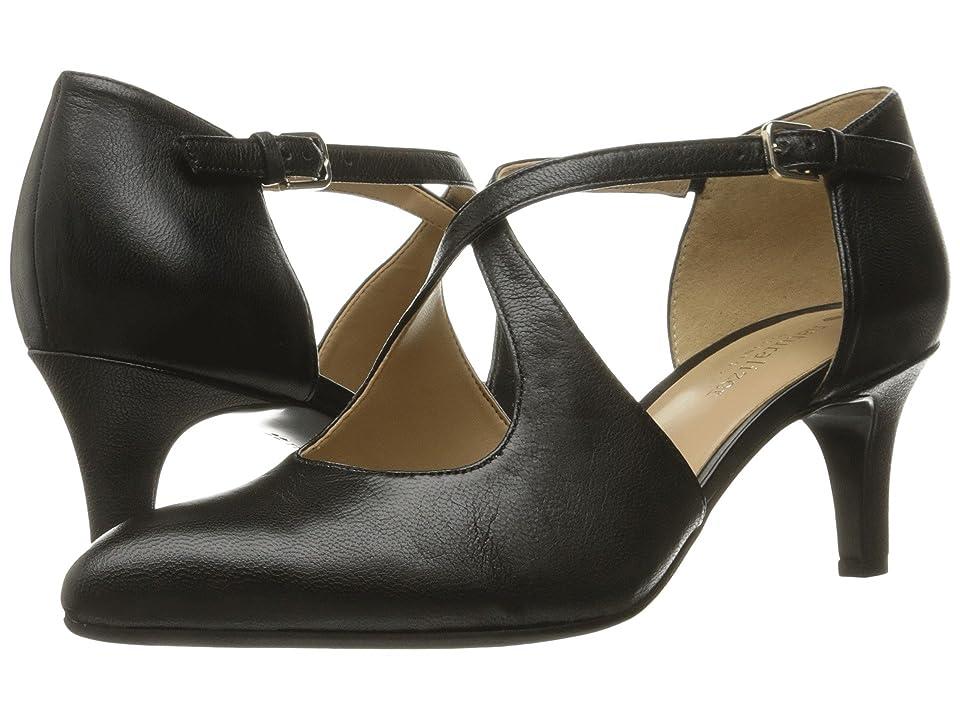 Vintage Style Shoes, Vintage Inspired Shoes Naturalizer Okira Black Leather Womens 1-2 inch heel Shoes $98.95 AT vintagedancer.com