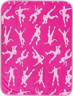 Jay Franco Fortnite Emotes Magenta Travel Blanket - Measures 40 x 50 inches, Kids Bedding - Fade Resistant Super Soft Plush Fleece - (Official Fortnite Product)'